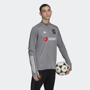 New Adidas MLS Los Angeles Galaxy FC 3/4 Pullover